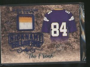 2019 In The Game RANDY MOSS Nickname patch relic 7/7 Last Card Vikings