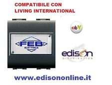 PULSANTE CAMPANELLO PORTA NOME LIFE COMPATIBILE BTICINO LIVING INTERNATIONAL