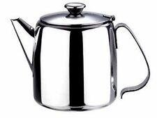 NEW STAINLESS STEEL FLIP LID LARGE TEA POT TEAPOT 2 LITRE 70oz BOXED SUNNEX DMG