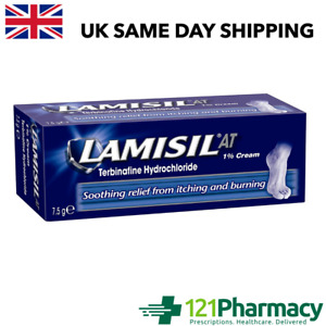Lamisil At 1% Cream 7.5g - | Athlete's Foot | Ringworm | Jock Itch | Soothing |