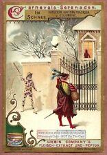 Francassa Italian Festival Carnival Serenades in Snow  c1898 Trade Ad Card