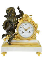 ALLEGORIE SCIENCES. Kaminuhr Empire clock bronze horloge antique pendule uhren
