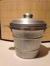 Hammered Aluminum Ice Bucket and Lid by Gailstyn Vintage