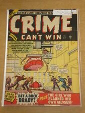 CRIME CAN'T WIN #41 (1) VG (4.0) ATLAS COMICS SEPTEMEBER 1950