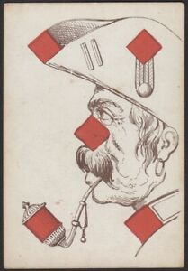 Playing Cards 1 Single Old Antique L'HACHETTE Transformation Card - SMOKING MAN