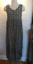 80s Long floral dress Made In LOS ANGELES Sz S