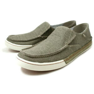 Clarks Men's Slaten Free Olive Canvas Slip On Casual Summer Shoes 8 M
