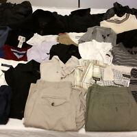 Mens Medium Clothes Huge Lot 29 Pcs Mixed Clothing Columbia Bench Tommy Hilfiger