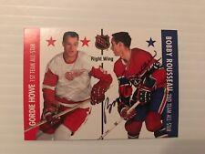 Bobby Rousseau autographed hockey card