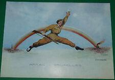 PLANCHE OSCAR LIEDEL 25.5 X 17.5 ARRAS-BRUXELLES 1944 CARICATURE CARICATURISTE