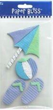 BEACH Pool Umbrella Flip Flops Ball Beachball Swim Relax Paper Bliss Stickers