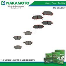 Nakamoto Premium Posi Ceramic Brake Pad Set Kit Front & Rear for Nissan Infiniti