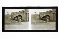 Château Da Chantilly Foto B22 Stereo Placca Da Lente Vintage Verso 1928