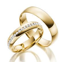2 x 585 Gelbgold Trauringe Vollkranz  Massiv Gold Eheringe Verlobungsringe Kiel