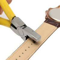 New Universal Hand Leather Strap Watch Band Belt Tool Hole Punch Pliers Tool BH