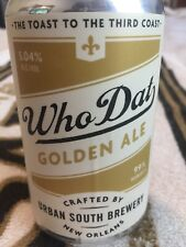 Urban South Brewery Who Dat Golden Ale 12oz Beer Can Limited Edition Saints