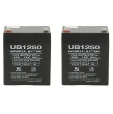 UPG 12V 5Ah Replacement Battery for Liftmaster 485LM Evercharge Back-Up - 2 Pack