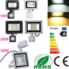 10W 20W 30W LED PIR Motion Sensor Floodlight IP65 Cool & Warm White Outdoor Lamp