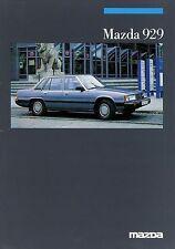 Mazda 929 Limousine Coupé Prospekt 1/86 Autoprospekt 1986 Broschüre Auto PKWs