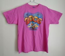 Pink Florida Disney T-Shirt - Large Size 100% Cotton - Authentic - Pre-Owned