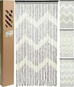Wooden Beaded Bamboo Door Curtain Summer Blind Fly Mosquito Bug Screen180 x 90CM