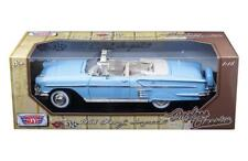 1958 Chevrolet Impala Conv Blue 1/18 Scale Diecast Car Model By Motor Max 73112