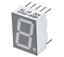 2 x Broadcom HDSP-5503 7-Segment LED Display, CC Red 3.7 mcd RH DP 14.22mm
