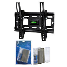 "HDTV Wall Mount Kit for 13""- 42"" TV Screen Monitors, LCD Screen Cleaning Kit"