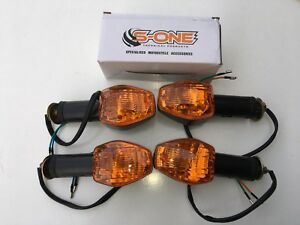 FRONT & REAR INDICATORS COMPLETE SET OF FOUR SUITABLE FOR HONDA CBR125