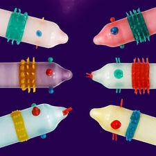 Lots 6pcs Adult Condom Latex Sensitive Dotted Massage Ribbed Stimulate Safe Case