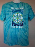 "CELESTIAL SEASONINGS ""Flower Power"" Tie-dyed T-Shirt"