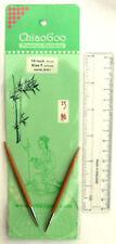 "16"" ChiaoGoo Bamboo CIRCULAR Knitting Needles, Assorted Sizes"