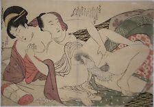 Original Japanischer Farbholzschnitt Kitagawa Utamaro I. (1753-1806)