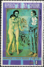 Ecuatorial Guinea Art Picasso Famous Painting Nude stamp 1970