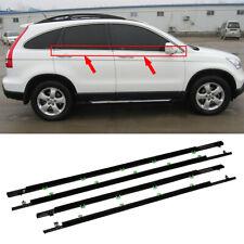 4pcs Car SUV Chrome Window Weatherstrip Trim Seal Belt For Honda CR-V 2007-2011