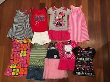 LOT Girl Summer Clothes Size 4T 5 6 Minnie Mouse Hello Kitty 4th July Crewcuts