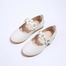 Kids Infant Baby Girl Princess Shoes Leather Floral Party Wedding Ball Moccasins