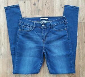 Ladies Levis 710 Super Skinny Jeans size 14 Waist 32 leg 32 Levi jeans
