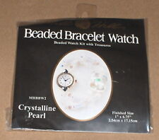 "2003 Mill Hill ""Crystalline Pearl"" Beaded Bracelet Watch Kit w/ Treasures"