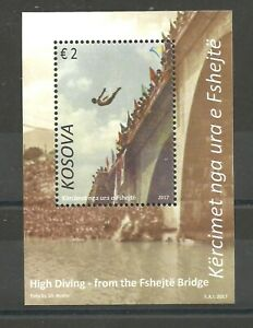 KOSOVO  2017  Block 42 Diving competition from the Fshejte Bridge MNH