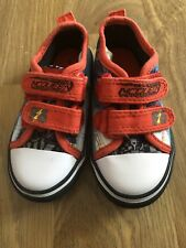 DISNEY CARS LIGHTENING MCQUEEN red slip on Velcro trainers size 5 by GEORGE