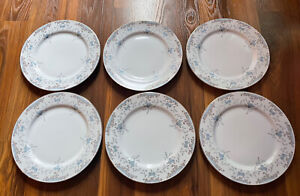"Set of 6 Imperial China Seville 5303 Dinner Plates 10.5"" W. Dalton Japan"
