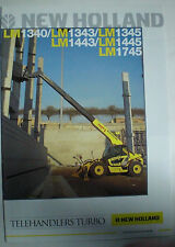 NEW HOLLAND LM1340 , 1343,1345,1443, 1445, 1745 PROSPEKT SALES BROCHURE ENGLISCH