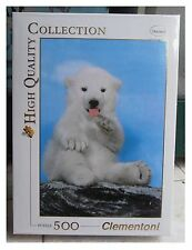 Puzzle Clementoni - 500 pezzi - Orso polare bianco