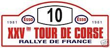 TOUR DE CORSE FRANCE INSIGNE DE RALLYE - COURSE STICKER GRAPHIQUE