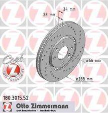 Disque de frein avant ZIMMERMANN PERCE 180.3015.52 CITROËN C5 Break DE_ 3.0 V6 (