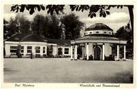Bad Meinberg alte Ansichtskarte 1956 gelaufen Wandelhalle und Brunnentempel