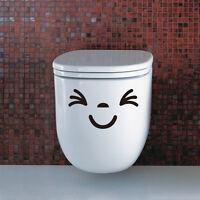 Toilet Seat Wall Sticker Vinyl Art Wall paper Bathroom Decals Decor Smiling Face