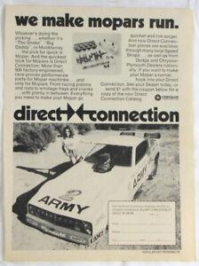 Vintage 1978 NHRA Don Prudhomme MOPAR Army Racing Print Ad