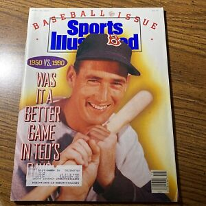 Ted Williams Boston Red Sox Sports Illustrated---April 16, 1990